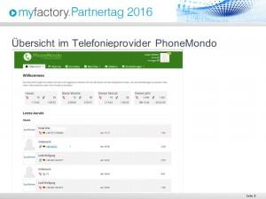 Übersicht PhoneMondo